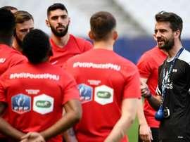 Stéphane Masala reconoció la superioridad del PSG. AFP
