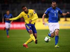 Newcastle aurait mis le montant demandé sur le chèque pour le Suédois. AFP