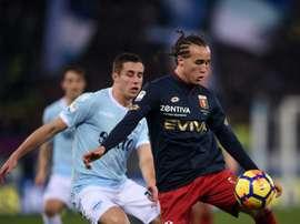 Foi o uruguaio que apontou o gol decisivo. AFP