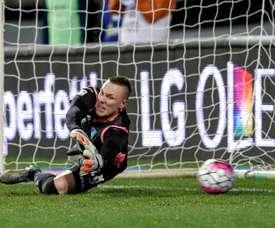 Skorupski o Diego Alves, la opción de la Roma para la portería en la 2017-18. AFP