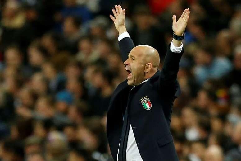 Luigi Di Biagio entraîneur de l'Italie lors du match face à lAngleterre à Wembley. AFP