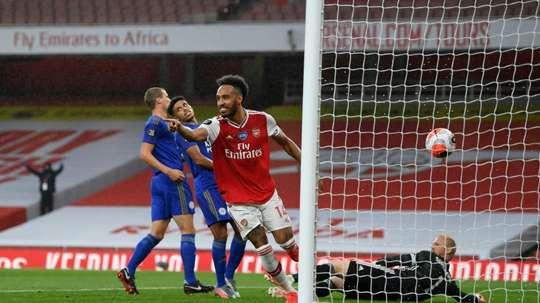 Les compos officielles du match de Carabao Cup entre Leicester et Arsenal. AFP