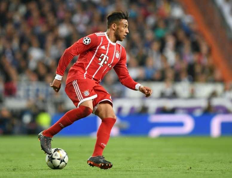 Tolisso se lesionou no primeiro treino do Bayern. AFP