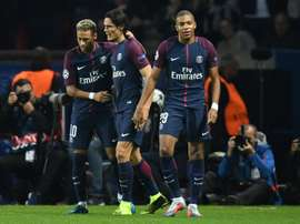 Cavani, Neymar and Mbappé start for the first time. AFP
