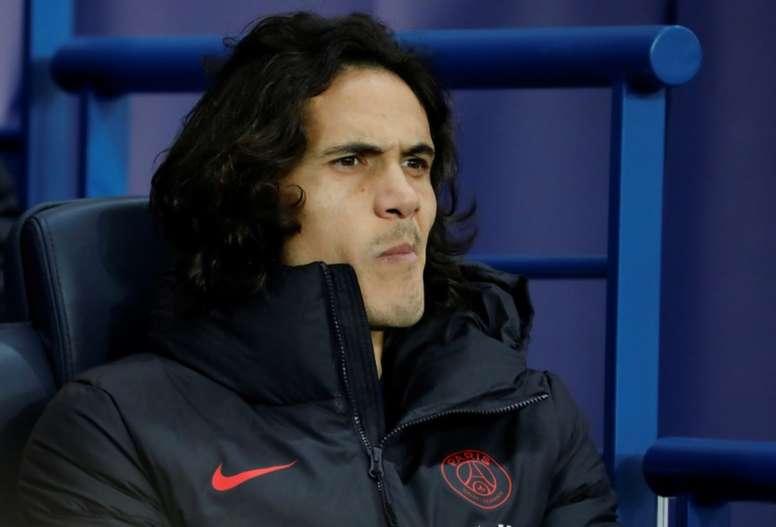 Cavani se acerca al Atlético: fuera de la convocatoria en Copa. AFP
