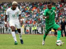 Le Nigeria dOgenyi Onazi est allé simposer à la Zambie à Ndola en qualification pour le Mondial. AFP