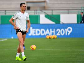 Cristiano Ronaldo au King Abdullah Sports City Stadium. AFP