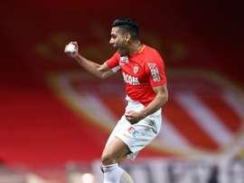 Radamel Falcao célèbre un but lors dun match de Ligue 1 contre Monaco. AFP