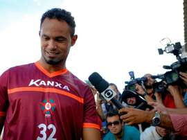 Bruno Fernandes lors de sa reprise dans son club après sa remise en liberté. AFP