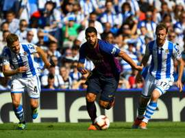 Suárez, buteur. AFP