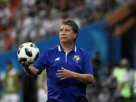 Hernan Darío Bolillo Gomez, alors entraîneur du Panama. AFP