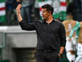 Almirón espera que el Elche dé la talla en Primera. AFP