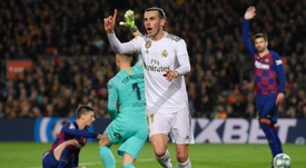 Bale cannot find the back of the net in recent months. AFP