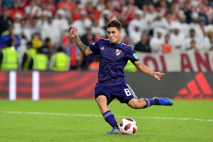 Juanfer Quintero podría volver a Colombia para jugar en DIM. AFP/Archivo