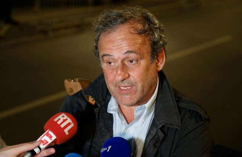 UEFA: Platini peut revenir à n'importe quel poste sauf footballeur, dit Ceferin. AFP