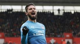 Giroud a suavé les 'Gunners'. AFP