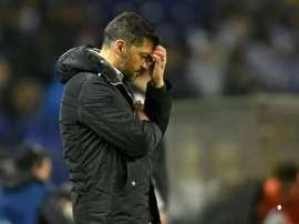 Sérgio Conceição afronta la conclusión de este partido con muchas bajas. AFP/Archivo