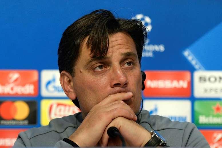 Montella afirmó que el equipo necesita descansar. AFP