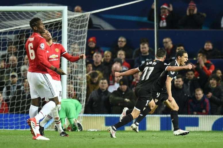 Surpresa em Old Trafford. AFP