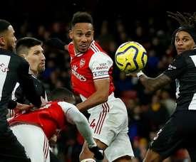 Les compos probables du match de Premier League entre Arsenal et Newcastle. AFP