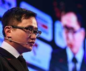 Le président chinois du groupe Desports Lizhang John Jiang à Zhuhai. AFP