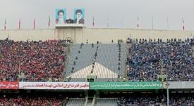 Les supporters d'Esteghlal et Perspolis lors du derby à Téhéran, le 12 février 2017. AFP