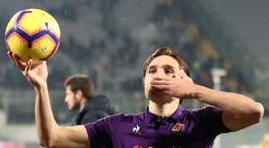 Federico Chiesa après un match de Coupe d'Italie face à l'AS Rome. AFP
