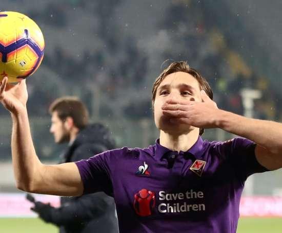 L'Inter reste intéressé par Federico Chiesa. AFP