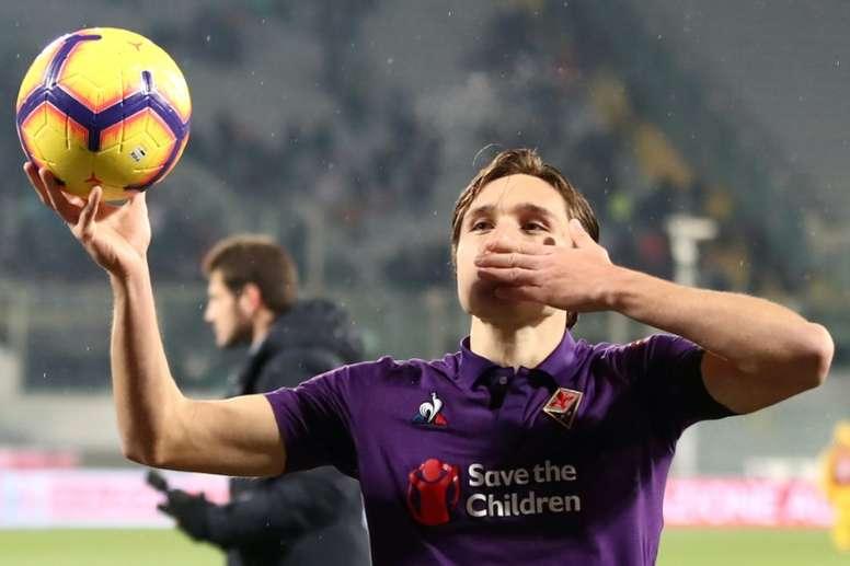 ''Guerre'' Inter-Juve pour Chiesa. AFP