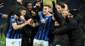 Qualification historique de l'Atalanta Bergame pour les 8e. AFP