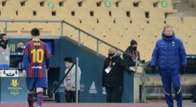 Messi, como nunca lo habíamos visto en el Barça. AFP