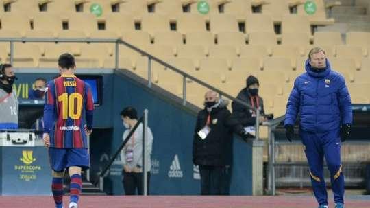 Leo Messi was sent off. AFP