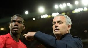 Mourinho a félicité Pogba. AFP