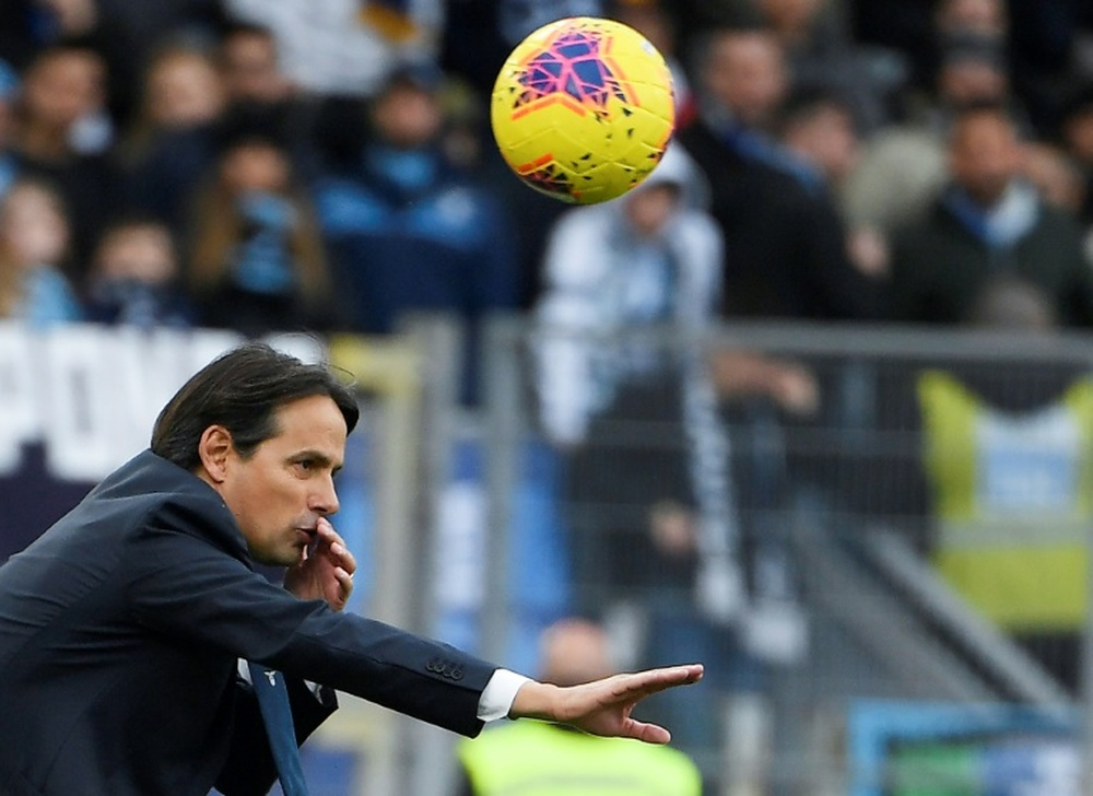 Inzaghi in conferenza. AFP