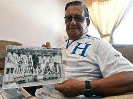 L'ex capitaine de léquipe nationale hondurienne Marco Tonin Mendoza. AFP