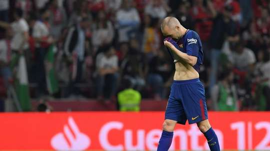 Iniesta played a starring role at the Wanda Metropolitano. AFP