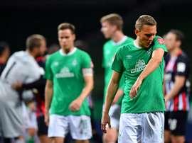 Le Werder Brême, corrigé par Francfort, reste avant-dernier. AFP