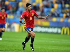 Asensio es uno de los tres españoles que forman el once ideal. AFP
