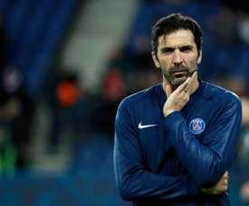 Buffon pourrait raccrocher les crampons en fin de saison. AFP