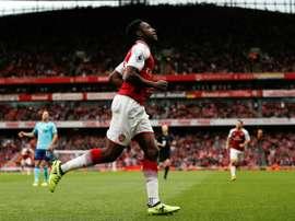 O Arsenal venceu por 3-2 na receção ao Southampton. AFP