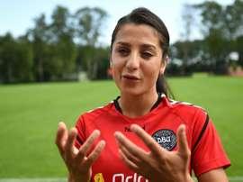 L'attaquante danoise dorigine afghane Nadia Nadim. AFP