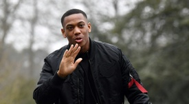 Martial wants to wave goodbye to his Man Utd career. AFP