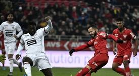 Rennes cède sur la fin à Dijon. AFP