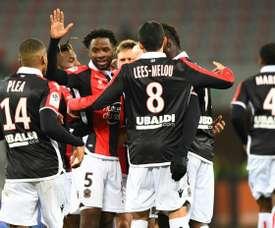 Nice vence Metz. AFP