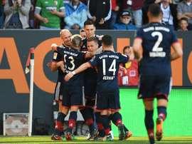 El Bayern vuelve a mandar en Alemania. AFP