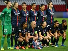 L'équipe du PSG avant la demi-finale de Ligue des champions 2016 au Parc des Princes. AFP