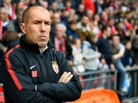 L'entraîneur de Monaco Leonardo Jardim lors du match à Rennes. AFP