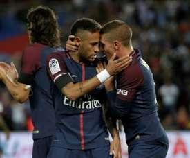 Neymar, le souvenir de Verratti. AFP