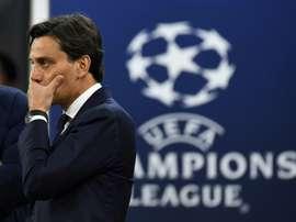 Montella podría sustituir a Di Francesco. AFP