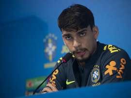Lucas Paquetá foi convocado como suplente da seleção. AFP